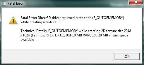 Fatal Error: Direct3D driver for Caribbean! Game
